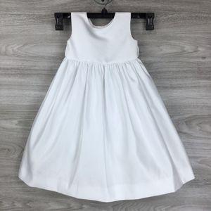 US Angels White Girls' Organza Tank Dress